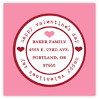 Take Note Designs Valentine's Day Address Labels - Simple Stamp Pink