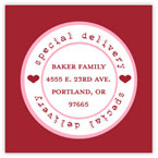 Take Note Designs Valentine's Day Address Labels - Special Delivery Red & Pink