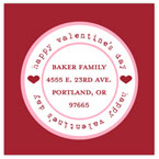 Take Note Designs Valentine's Day Address Labels - Simple Stamp Red & Pink