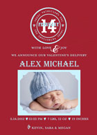 Take Note Designs Valentine's Day Digital Photo Cards - Simple Stamp Valentines Baby Boy