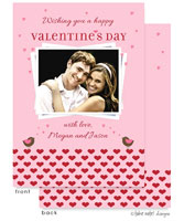 Take Note Designs Valentine's Day Digital Photo Cards - Chirping Birds on Hearts Valentines Day