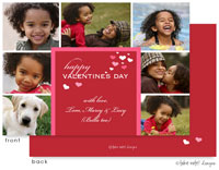 Take Note Designs Valentine's Day Digital Photo Cards - Red Valentine's Hearts Multi-Photo