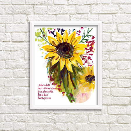 Framable Art Prints by Michele Pulver/Another Creation - Mother Sunflower