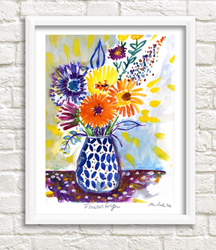 Framable Art Prints by Michele Pulver/Another Creation - Flowers for You