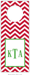 Boatman Geller - Personalized Wine Bottle Tags (Chevron Red)