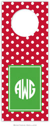 Boatman Geller - Personalized Wine Bottle Tags (Polka Dot Cherry)