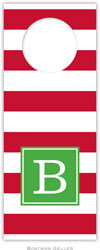 Boatman Geller - Personalized Wine Bottle Tags (Awning Stripe Red Preset)