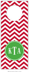 Boatman Geller - Personalized Wine Bottle Tags (Chevron Red Preset)