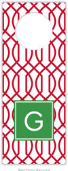 Boatman Geller - Personalized Wine Bottle Tags (Trellis Reverse Cherry Preset)