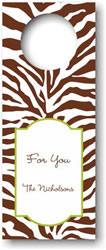 Boatman Geller - Personalized Wine Bottle Tags (Zebra Brown)