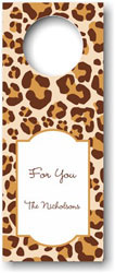 Boatman Geller - Personalized Wine Bottle Tags (Leopard Brown)